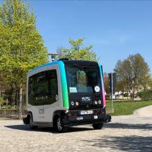 Autonomer Bus im Bad Birnbacher Park - Foto DB AG (Carolin Frick)