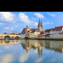 Regensburg Steinernde Brücke Stadtansicht Modellregion