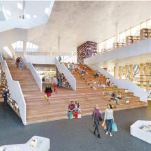 Pläne für das Haus des Wissens: Offene Atmosphäre, breite Treppen