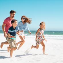 Zweitwohnsitz -Dürfen Kinder mit? Strandbild