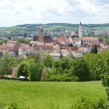 Donauwörth Blick auf die bayerische Stadt