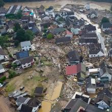 Schuld in der Eifel Kreis Ahrweiler von Wassermassen zerstört.