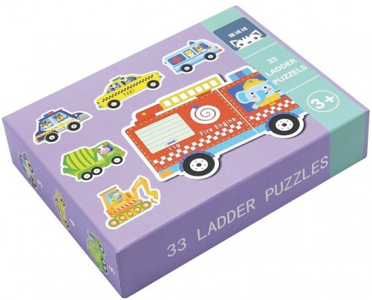 Set de 6 Puzzle-uri Vehicule