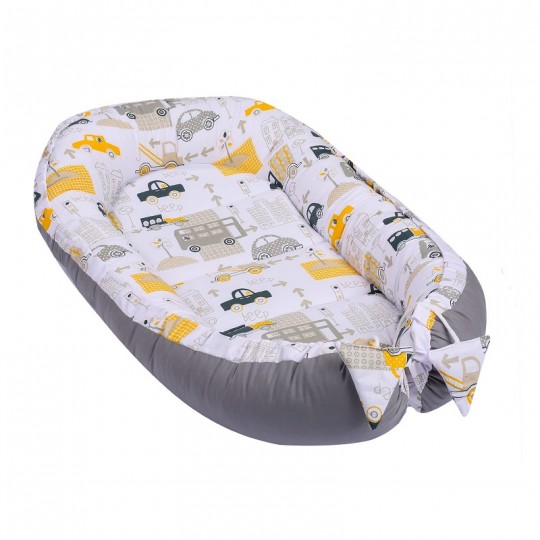 Baby Nest Multifunctional din Bumbac, Cars