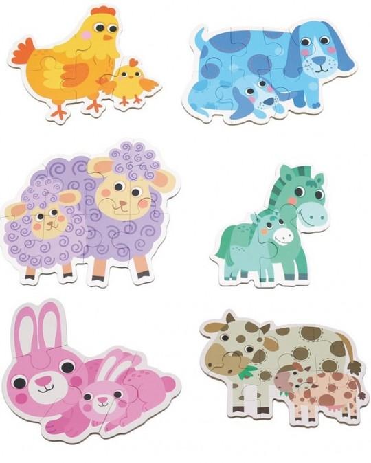 Set de 6 Puzzle-uri Animale de la ferma