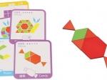 Tangram-joc din lemn pentru dezvoltarea imaginatiei cu 155 de piese