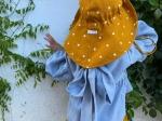Palarie ajustabila din in organic Sunflower cu buline
