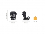 Scaun auto rotativ isofix Chicco Unico Air Plus, Black Air (negru), 0luni+