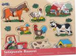 Puzzle din lemn cu maner - La Ferma