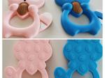 Jucarie dentitie raton  din silicon - diverse culori