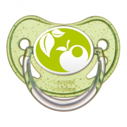 "Suzeta ""Nature"" cu tetina ortodontica silicon, Canpol babies, fara BPA, 6-18 luni, verde"