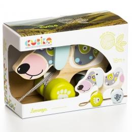 Jucarie din lemn, Cubika, Happy Puppy