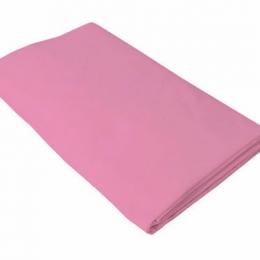 Cearceaf roz KidsDecor cu elastic patut copii 80x160 cm