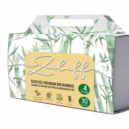 Zuluff scutec premium din bambus cu fibre 100% naturale - Marimea 4, Six 180 bucati
