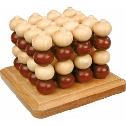Joc de inteligenta 4 in linie, 3D, din lemn