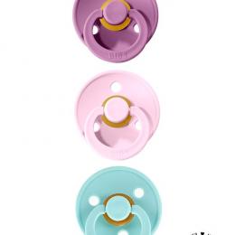 Oferta speciala BIBS! Pachet 2 suzete +1 GRATIS (1 x Lavender + 1 x Pink + 1 x Mint - 0-6 luni)