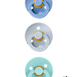 Oferta speciala BIBS! Pachet 2 suzete +1 GRATIS (1 x Sky Blue + 1 x Baby Blue + 1 x Mint - 0 - 6 luni)