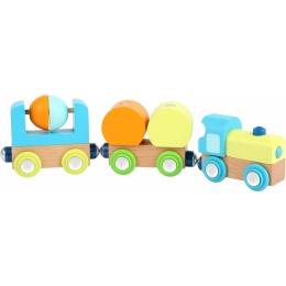 Trenuletul din lemn cu magneti