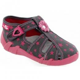 Sandale Fetite, Roz Gri, marca RenBut, inchidere catarama