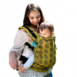 Marsupiu ergonomic, Kinder Hop, Multi Soft, Dots Yellow