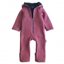 Overall dublat din lana fiarta Dusty Pink