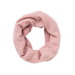 Fular tubular, din lana si matase, roz