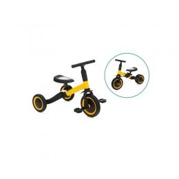 Tricicleta transformabila in bicicleta fara pedale yellow-black Fillikid