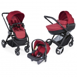 Carucior copii 3 in 1 Chicco Best Friend+ Comfort, Red (Rosu), 0luni+