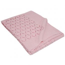 Paturica din Bumbac, Eko, 80x100 cm, Tricotata, Pink