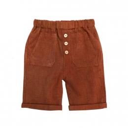 Pantaloni scurti din in organic Rooibos