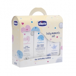 Baby Moments set 03208 ( gel de dus si sampon 200ml, lotiune 200 ml, apa colonie 100 ml))