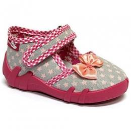 Sandale Fete, Gri Rosu Roz, inchidere velcro, marca RenBut