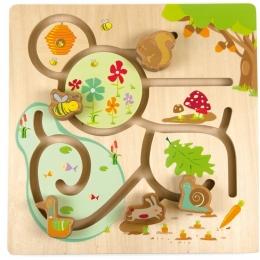 Labirintul din padure, joc de motricitate din lemn