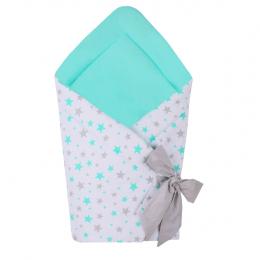 Port bebe textil transformabil in salteluta de joaca, Blue Stars