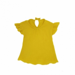 Bluza cu maneca scurta si  volanase Shimmery Sunflower