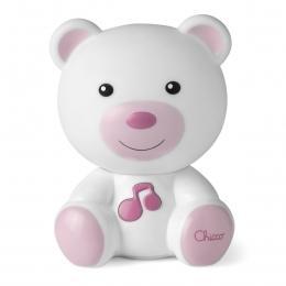 Jucarie Chicco Lampa ursulet, Roz, 0luni+