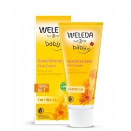 Baby crema faciala hidratanta cu galbenele, Weleda