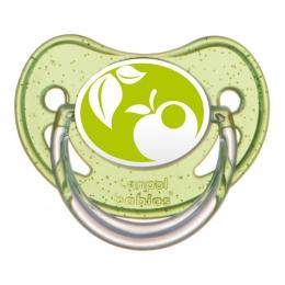 "Suzeta ""Nature"" cu tetina ortodontica silicon, Canpol babies, fara BPA, 0-6 luni, verde"