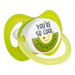 "Suzeta ""So Cool"" cu tetina simetrica silicon, Canpol babies, fara BPA, 6-18 luni, verde"