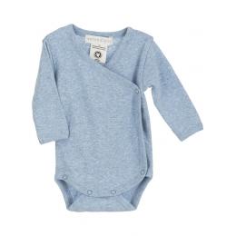 Body bebelusi din bumbac organic, cu model light blue