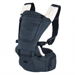 Marsupiu ergonomic multifunctional Chicco Hip Seat cu suport pentru sold, Denim (albastru), 0luni+