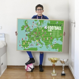 Joc educativ si creativ cu stickere repozitionabile Fotbal, POPPIK
