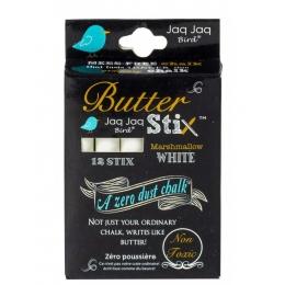 Set 12 ButterStix® - creta fara praf -  Alb - Jaq Jaq Bird