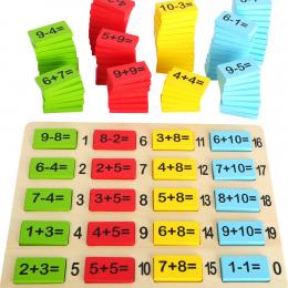 Primele operatii matematice - joc educativ din lemn cu numere