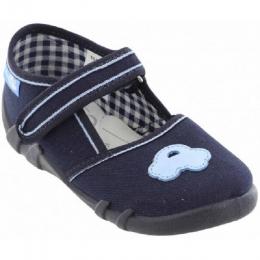 Sandale Baieti, Albastru inchis, inchidere velcro, marca RenBut