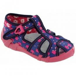 Sandale Fetite, Rosu Albastru, marca RenBut, inchidere catarama