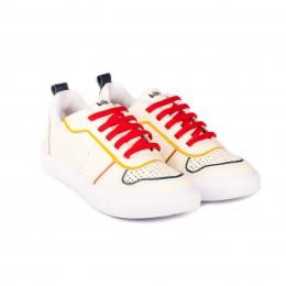 Pantofi Baieti BIBI Agility III Albi/Rosu