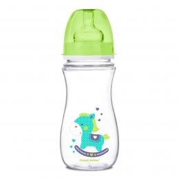 "Biberon anticolici gat larg, Canpol babies, polipropilena, 300 ml, ""Toys"", verde"