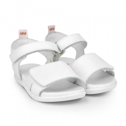 Sandale Fete BIBI Baby Soft Alb Velcro