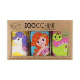 Set 3 Chilotei Antrenament, Zoocchini, Fetita, 3-4 ani, 100% Bumbac Organic, Magic